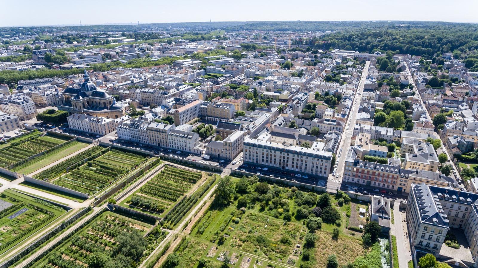 Versailles aérien - Saint-Louis / Potager du Roi