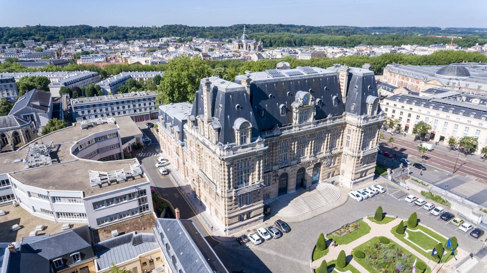 Versailles aérien - Hôtel de Ville